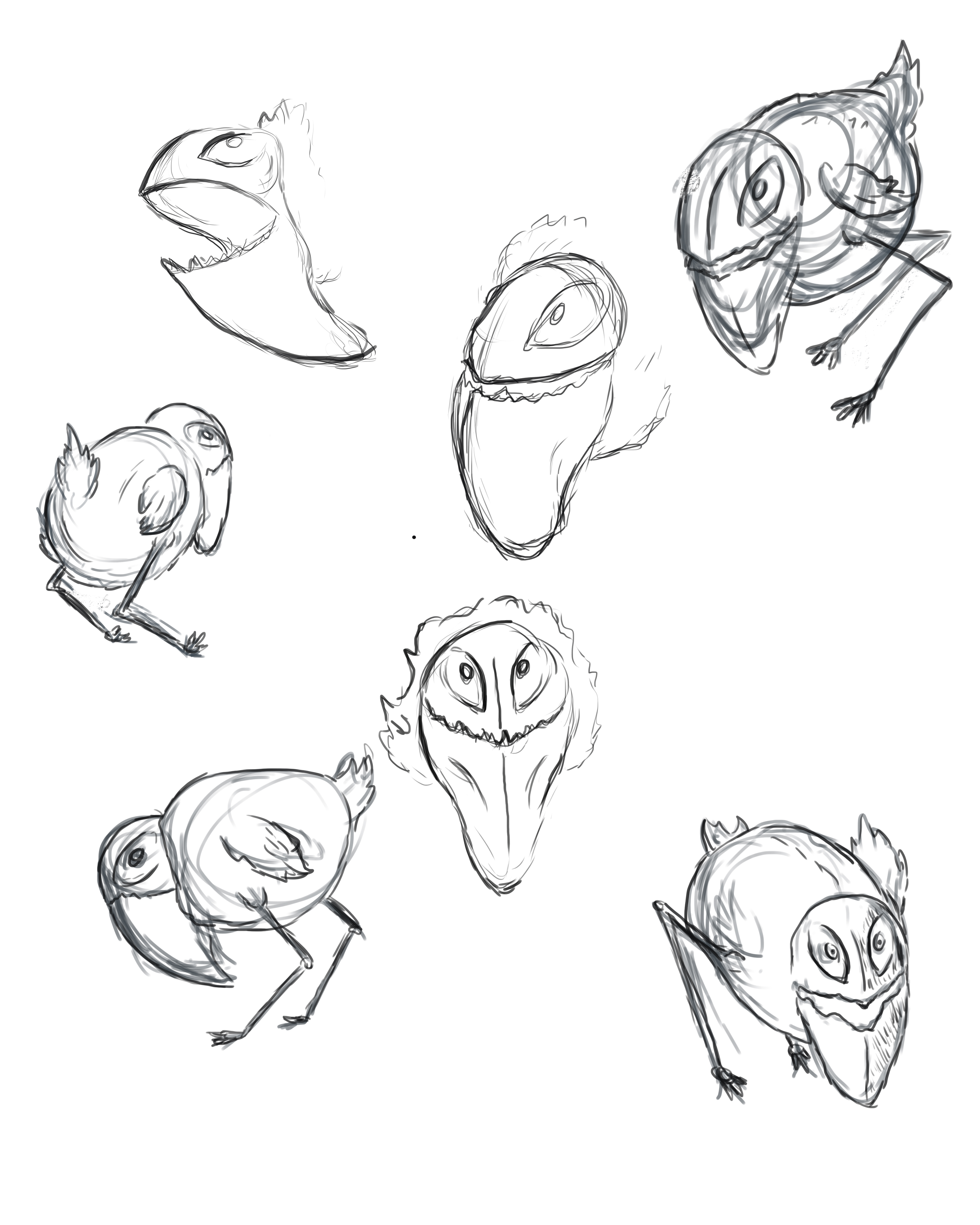 Scary Birds Drawing These Birds Are Freaking Cute