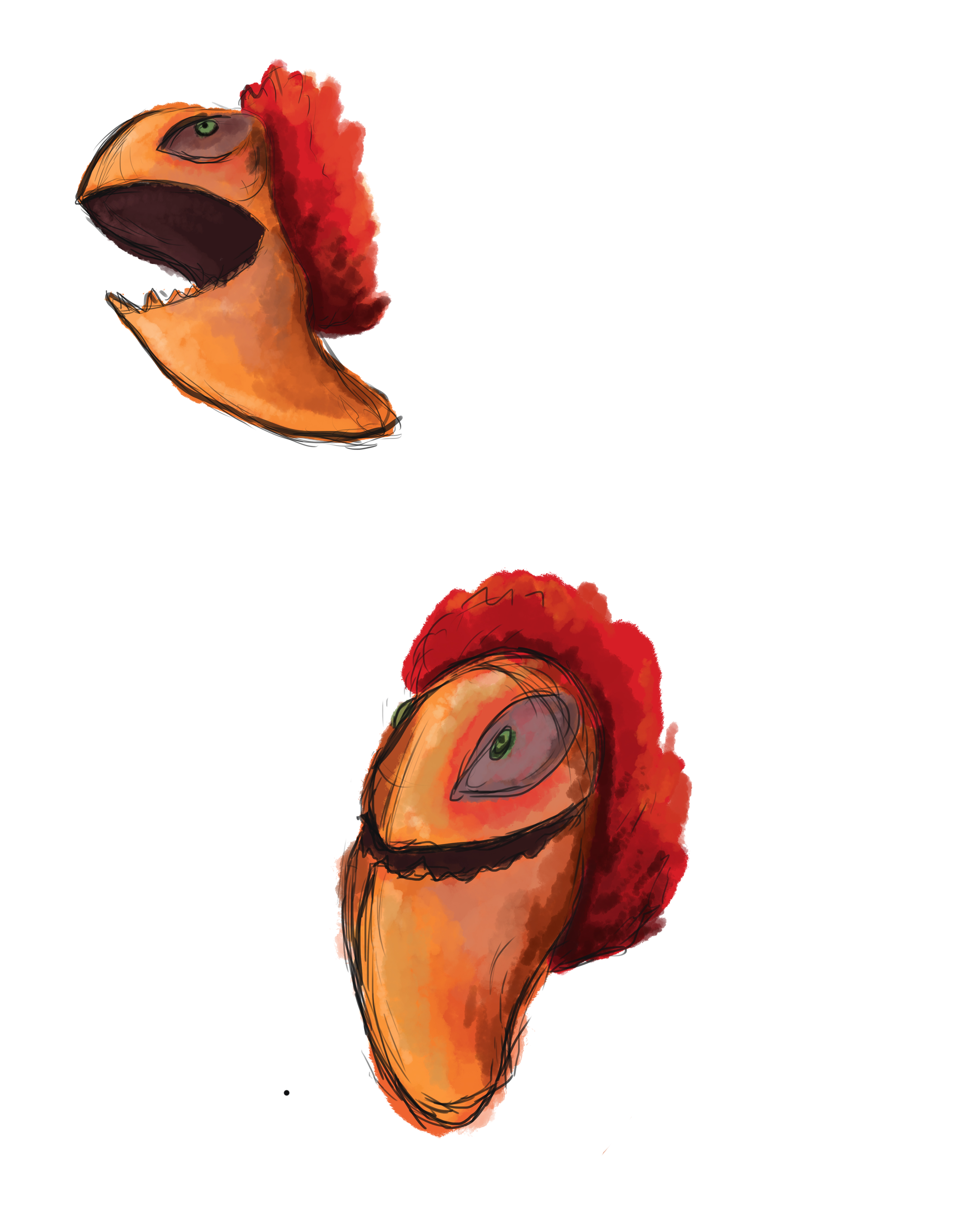 """I love these birds from """"The Croods"""" 
